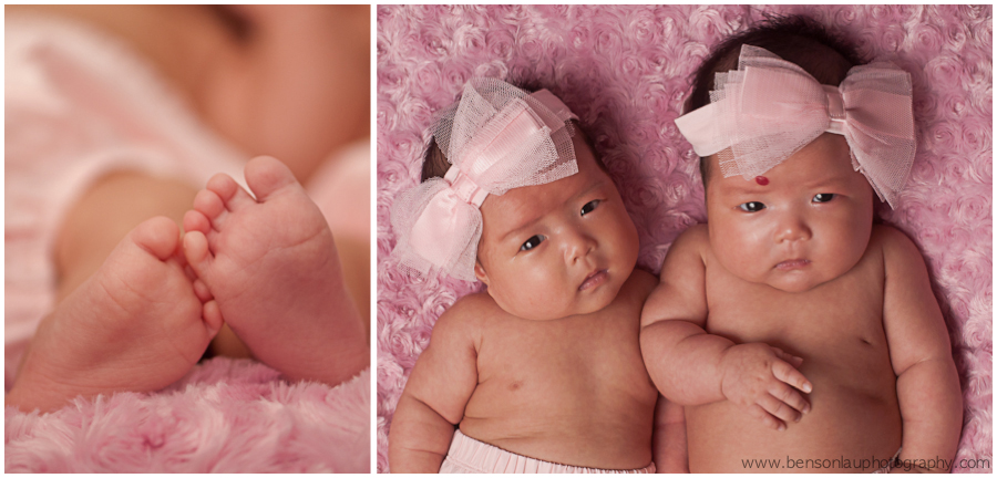 Newborn twin portraits in clifton new jerey taken by benson lau photography 2 jpg