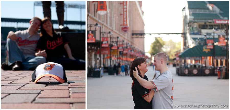 Baltimore Engagement Portraits at Orioles Camden Yards Maryland taken by Benson Lau Photography 1.jpg