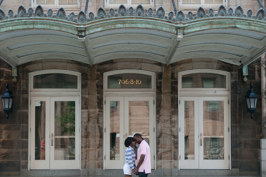 Engagment portrait in Mount Vernon Baltimore City Maryland taken by Benson Lau Photography 7.jpg